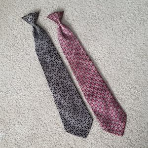 Two David Taylor Clip-on Ties; Make an Offer!